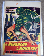 Revenge of the Creature (1955) Film Poster - Belgian